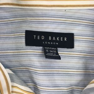Ted Baker London Shirts - Ted Baker Long Sleeve Button Down Shirt 16 34/35